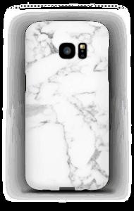 Simpel wit marmer hoesje Galaxy S7 Edge