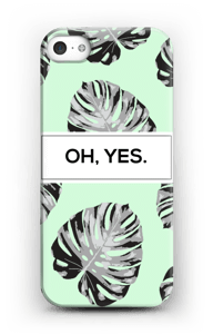 Oh Yes verdino chiaro cover IPhone 5/5S