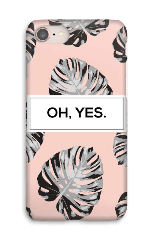 Oh yes saumon Coque  IPhone 8