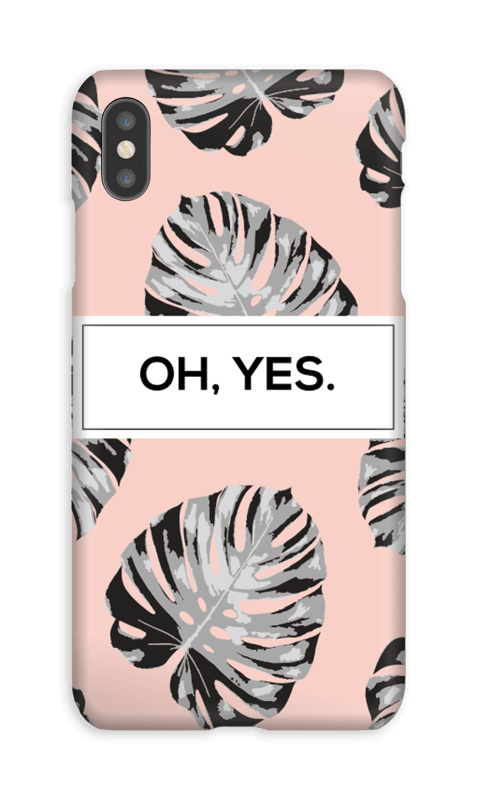 Oh yes saumon Coque  IPhone XS Max