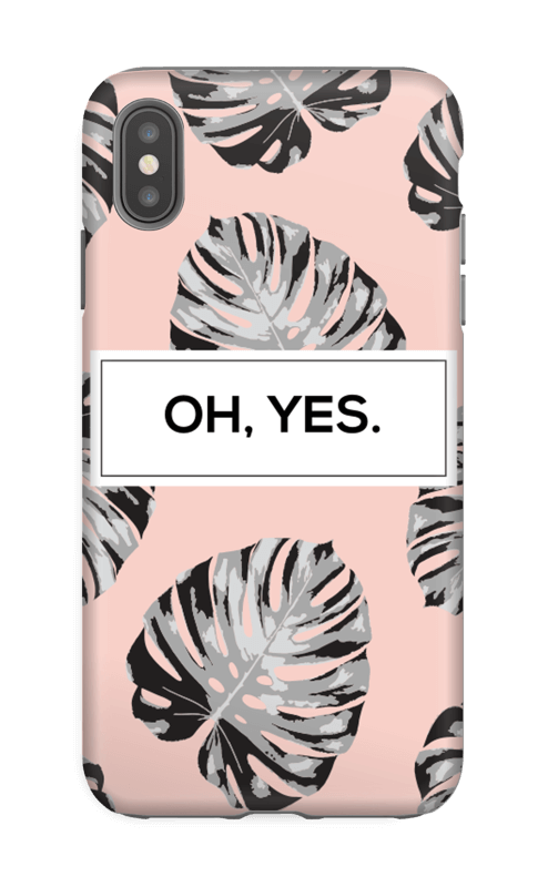 Oh yes saumon Coque  IPhone XS Max tough