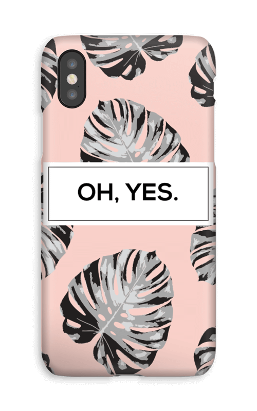Oh yes saumon Coque  IPhone XS