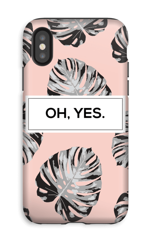 Oh yes saumon Coque  IPhone XS tough