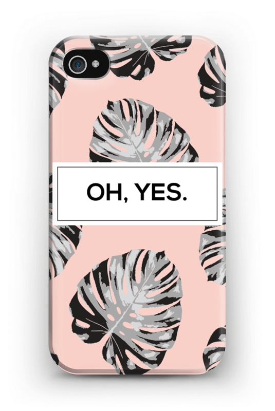 Oh yes saumon Coque  IPhone 4/4s