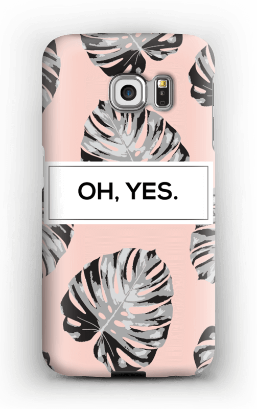 Oh yes saumon Coque  Galaxy S6 Edge