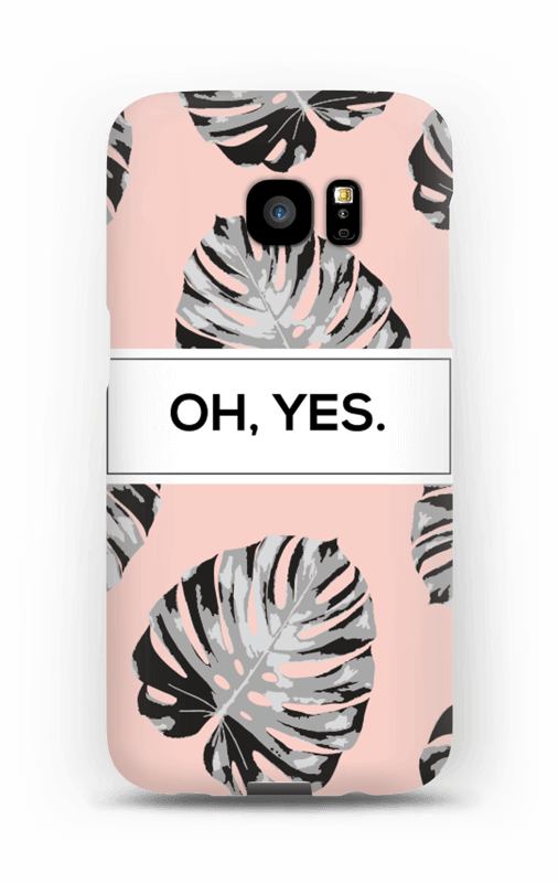 Oh yes saumon Coque  Galaxy S7 Edge