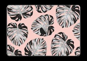 Pastellrosa blader