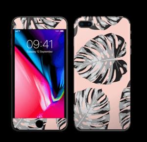 Feuilles saumon Skin IPhone 8 Plus