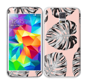 Salmon Leaves Skin Galaxy S5
