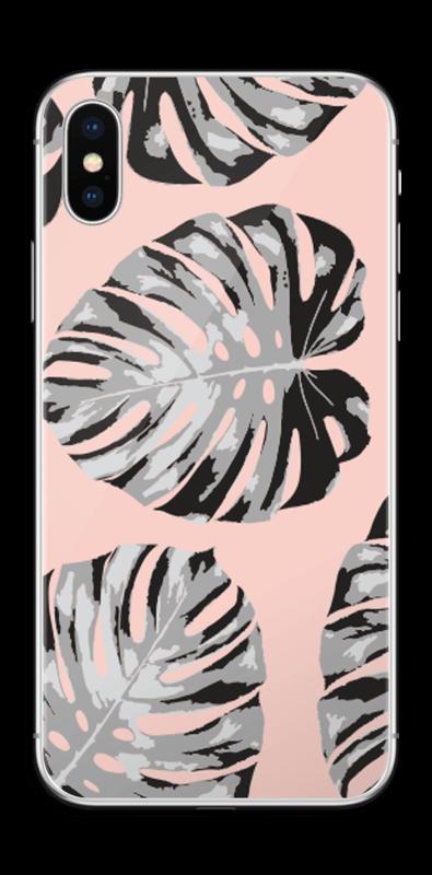 Foglie Su Sfondo Rosa Caseapp