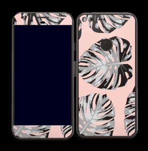 Feuilles saumon Skin Pixel XL