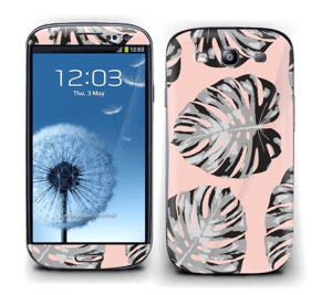 Pink leaves Skin Galaxy S3