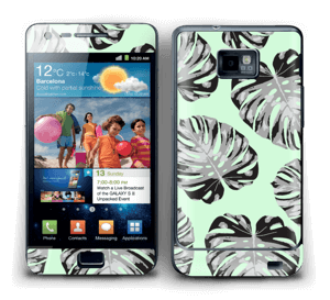 Feuilles turquoise Skin Galaxy S2