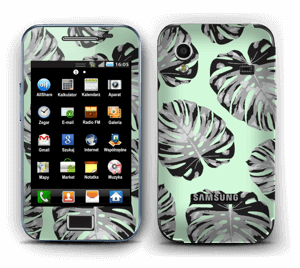 Green leaves patterm Skin Galaxy Ace