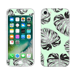 Feuilles turquoise Skin IPhone 7