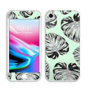 Feuilles turquoise Skin IPhone 8