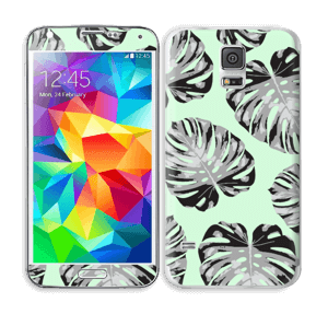 Feuilles turquoise Skin Galaxy S5