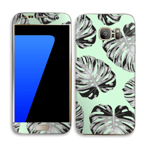 Feuilles turquoise Skin Galaxy S7