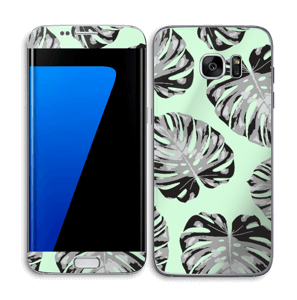 Feuilles turquoise Skin Galaxy S7 Edge