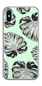 Feuilles turquoise Skin IPhone X