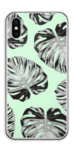 Feuilles turquoise Skin IPhone XS