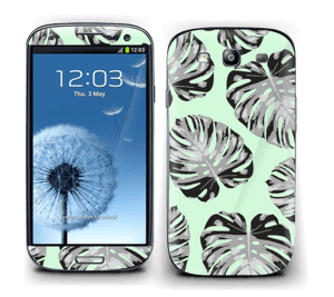 Green leaves patterm Skin Galaxy S3