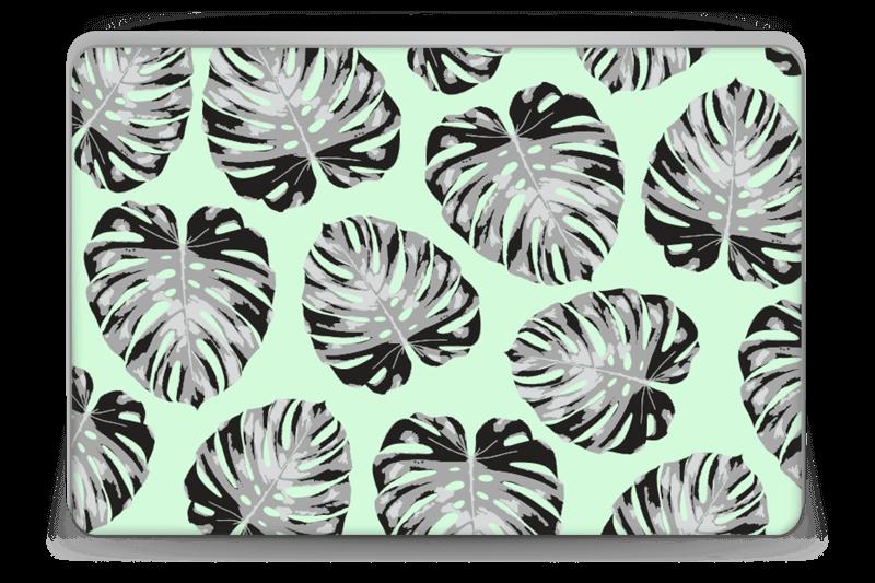 Foglie Su Sfondo Verde Chiaro Caseapp