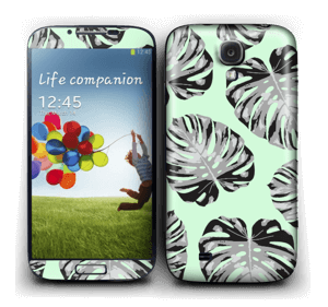 Mint gröna blad Skin Galaxy S4