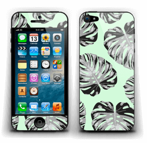 Feuilles turquoise Skin IPhone 5