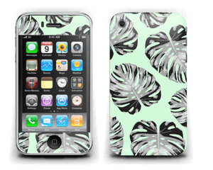 Feuilles turquoise Skin IPhone 3G/3GS