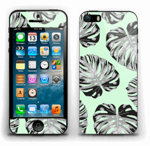 Feuilles turquoise Skin IPhone 5s