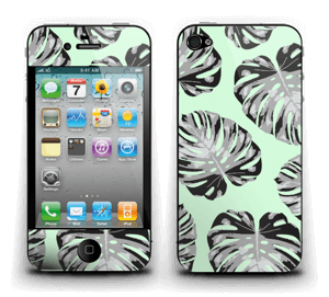 Feuilles turquoise Skin IPhone 4/4s
