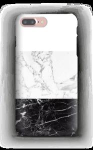 Zwart & wit marmer hoesje IPhone 7 Plus