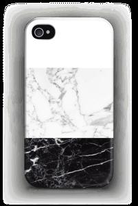 Zwart & wit marmer hoesje IPhone 4/4s