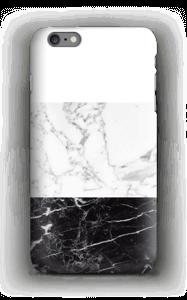 Zwart & wit marmer hoesje IPhone 6s Plus