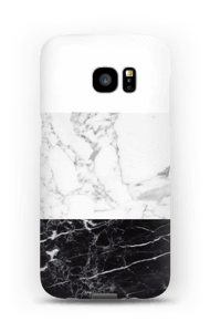 Zwart & wit marmer hoesje Galaxy S7 Edge