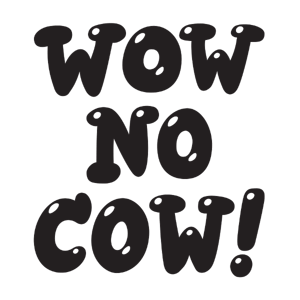 Wow No Cow! sticker