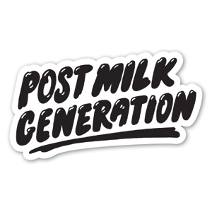 Post-Milk Generation sticker
