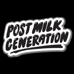 Post Milk sticker