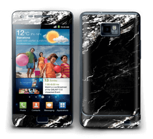 More black marble Skin Galaxy S2