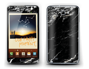 More black marble Skin Galaxy Note