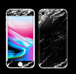 More black marble Skin IPhone 8