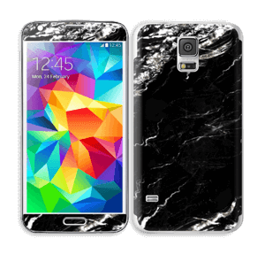 More black marble Skin Galaxy S5