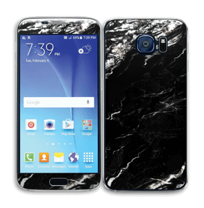 More black marble Skin Galaxy S6