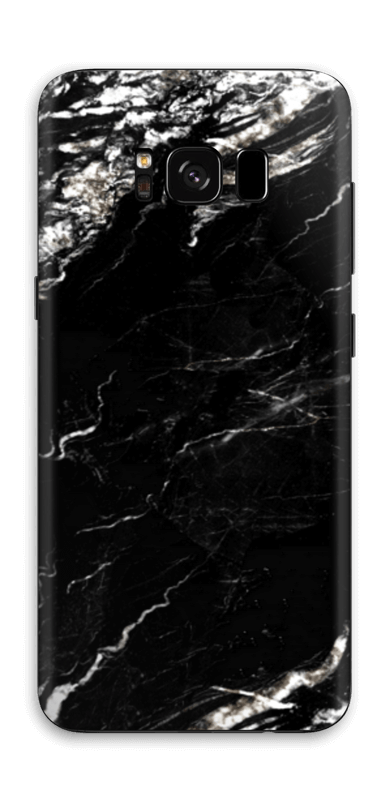 More black marble Skin Galaxy S8