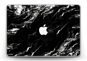 More black marble Skin MacBook Pro 13
