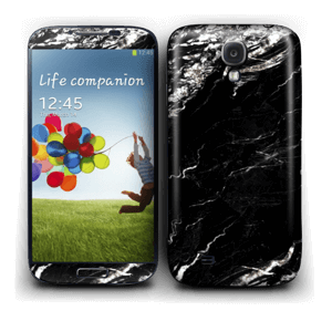 More black marble Skin Galaxy S4
