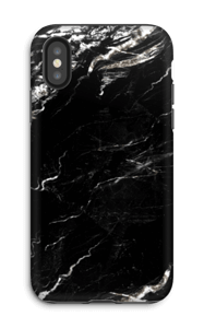 Zwart & Wit marmer hoesje IPhone X tough