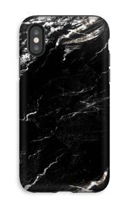 Svartvit marmor skal IPhone XS tough