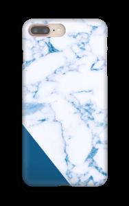 Marbre et bleu Coque  IPhone 8 Plus